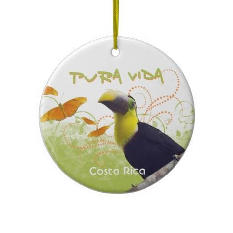 pura vida toucan butterflies ornament costa rica
