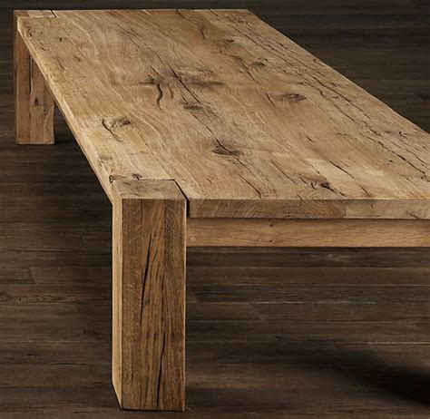 parsons table restoration hardware parsons reclaimed oak coffee table coffee tables