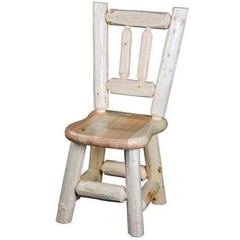 Rustic Pine Dining Chairs Rustic Furniture Rustic Pine Log Dining Chair