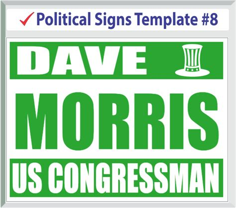 yard sign design template political signs templates