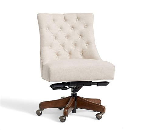 white desk and chair tufted swivel desk chair pottery barn au