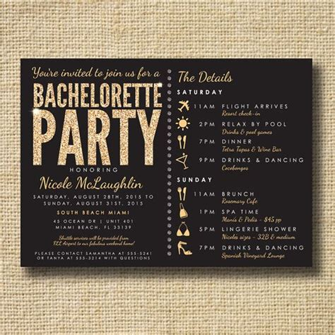 bachelorette invites templates 25 best ideas about hens invitations on