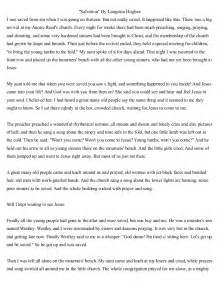 Langston Hughes Salvation Essay salvation by langston hughes