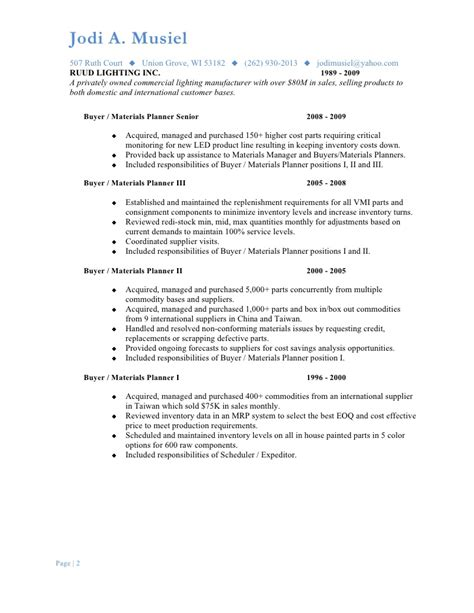resume for purchasing coordinator 28 images free sle