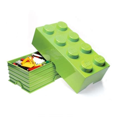 Lego Lime Flipper Lego Accessories lego storage brick 8 lime green at mighty ape nz