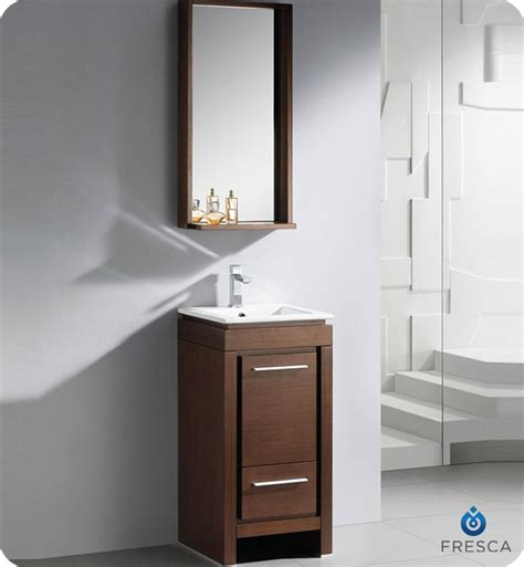 Small Bathroom Cabinet Fresca 16 Quot Allier Small Modern Bathroom Vanity Wenge Finish