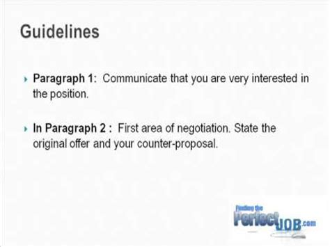 Closing A Negotiation Letter Tips To Successful Salary Negotiation Letter