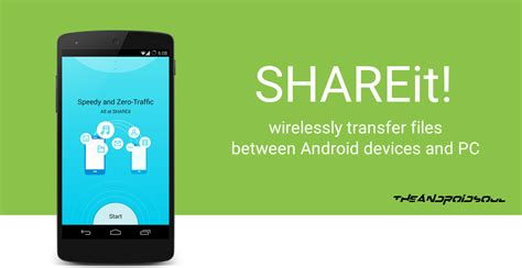 wirelessly transfer files between android devices