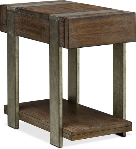 Union City Furniture by Union City Chairside Table Bark American Signature