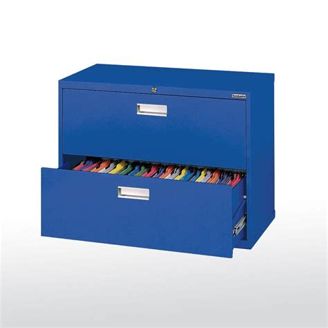 sandusky 600 series 36 in w 2 drawer lateral file cabinet