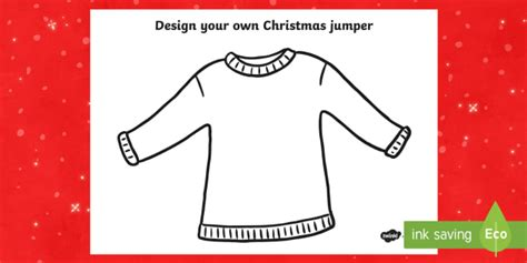 Christmas Jumper Design Worksheet Activity Sheet Christmas Jumper Day Template Letter