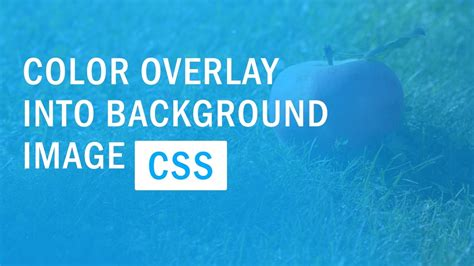 tutorial css background css background image color overlay color filter quick