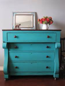 colorful dresser european paint finishes teal chest of drawers