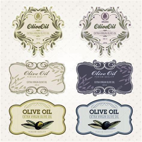 Olive Oil Labels Set Stock Vector 169 Tanjakrstevska 6586743 Olive Labels Templates