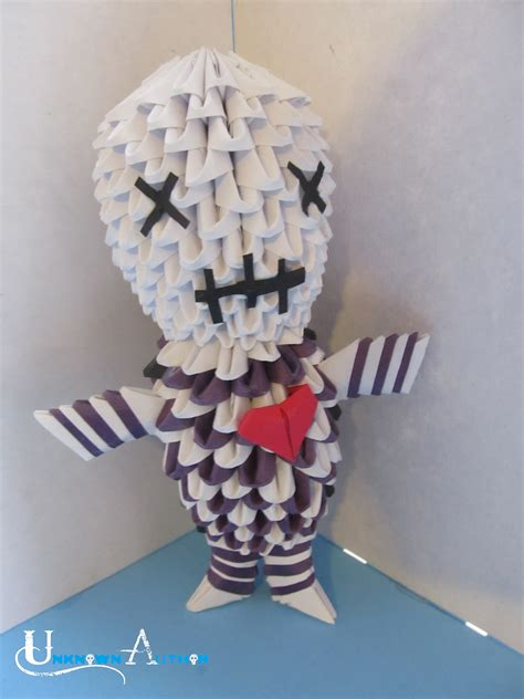 How To Make A 3d Paper Person - 3d origami voodoo doll by jobe3do on deviantart