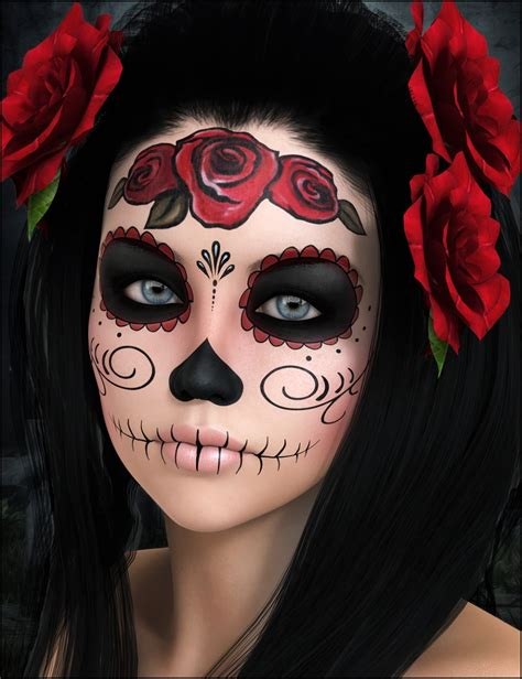 catrina maquillaje catrina 3d models and 3d software by daz 3d