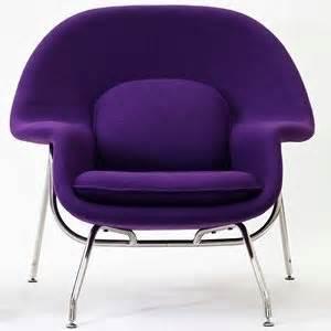 eero saarinen style womb chair and ottoman set purple