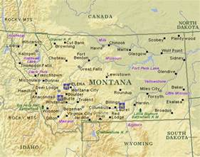 Montana Map With Cities by Montana