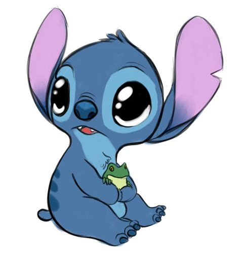 stitches baby baby stitch holding a baby frog