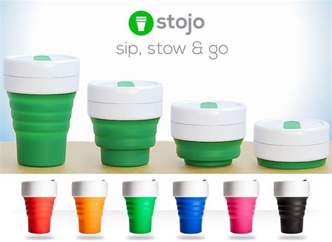 Stojo Pocket Coffee Cup 355ml 12oz stojo collapsible silicone 12oz cup reusable leak proof