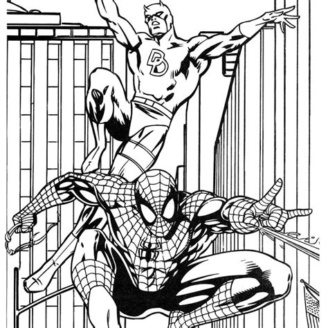 batman and spiderman coloring pagesfree coloring pages for