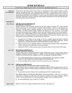 Cognos Controller Sle Resume by Professional Cover Letter Management Accountant