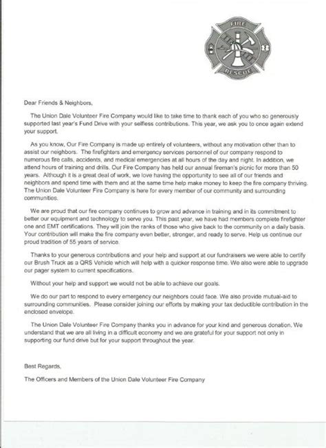 Fundraising Volunteer Thank You Letter 911 Addressing System Image Mag