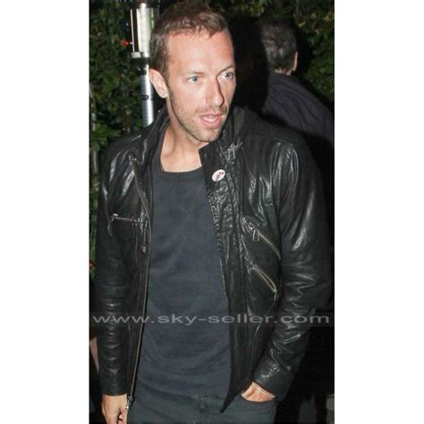 coldplay jacket coldplay band chris martin black leather jacket