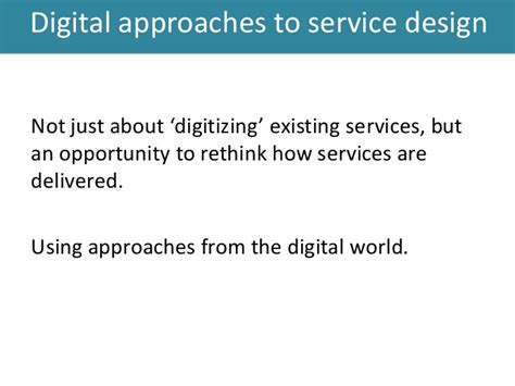 verism a service management approach for the digital age books digital approaches to service design prag