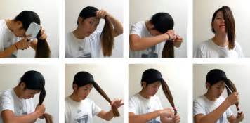 how to do layers the ponytail method on curly american hair easy step hair cutting ideas for long hairs in lyres hairzstyle com hairzstyle com