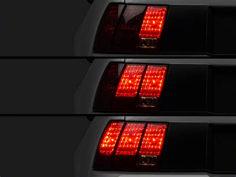 raxiom tail light sequencer raxiom mustang smoked tail lights and sequential combo