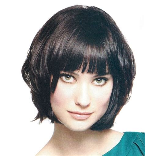 chin length layered bob with side bangs chin length chin length styles pinterest