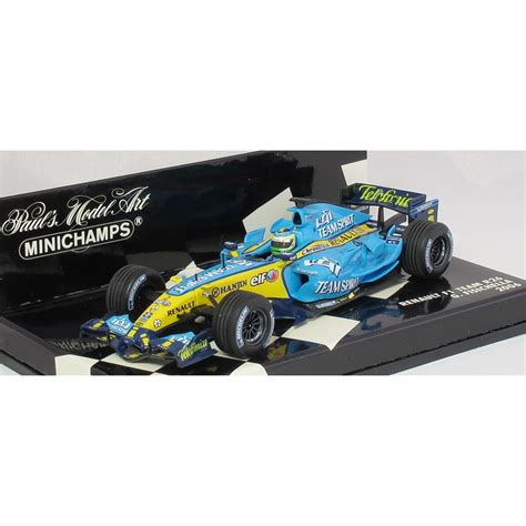 Kartu Koleksi Deck The Mini Car Collection 45 Collectables Cards minichs 1 43 400 060002 f1 car renault team r26 giancarlo fisichella 2006 minichs from