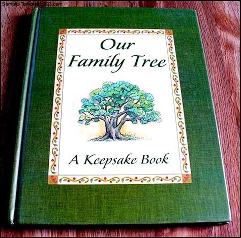 family tree book template sle template sle templates
