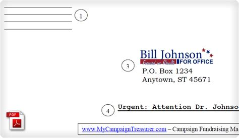 Fundraising Letter Envelopes Political Caign Fundraising Letter Reply Envelope Exle Political Fundraising Software