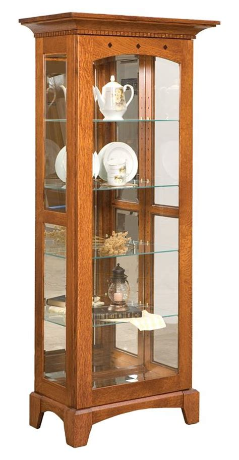 Amish Royal Mission Curio Cabinet Mission Style Curio Cabinet