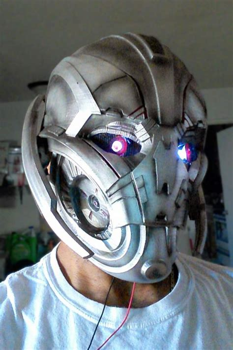 Printable Ultron Mask | avengers age of ultron cosplay mask is 3d printed by