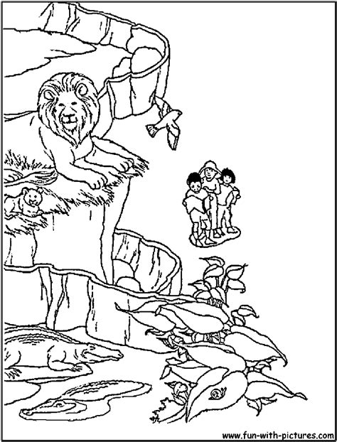 zoo scene free colouring pages