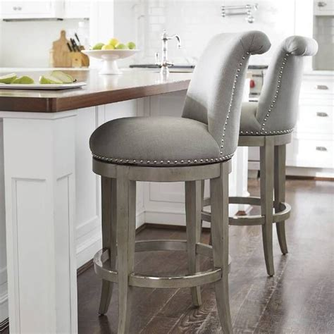 grey kitchen bar stools the graceful silhouette and curved back of our ellison