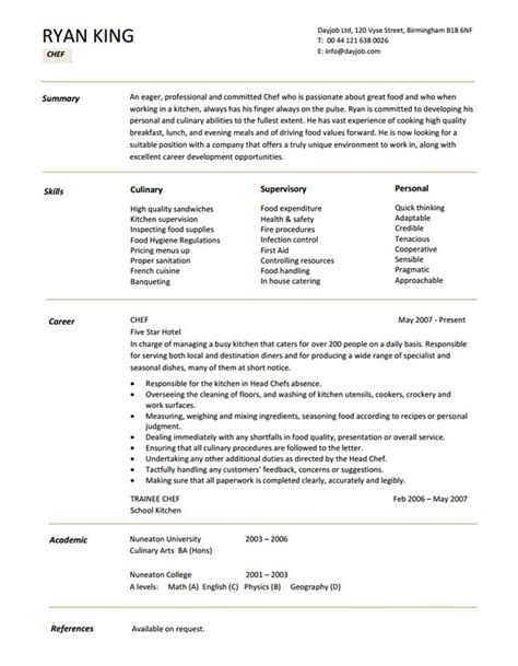 chef cv format download 15 chef resume templates free psd pdf sles