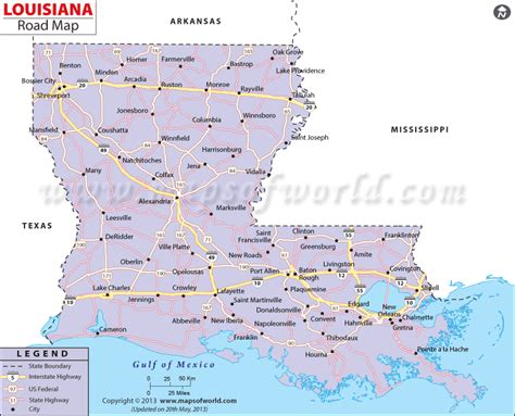 map of louisiana cities buy louisiana road map