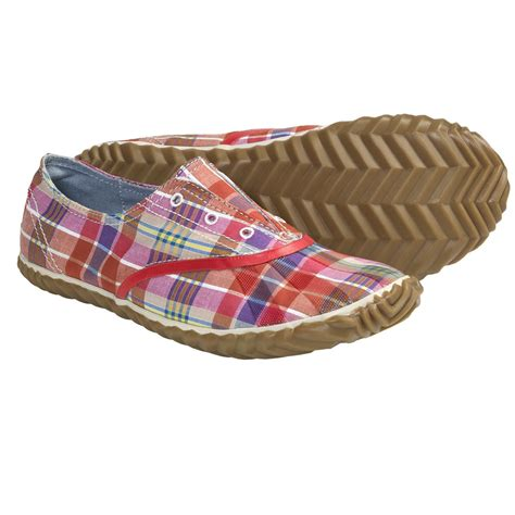 sorel picnic plimsole plaid shoes canvas for