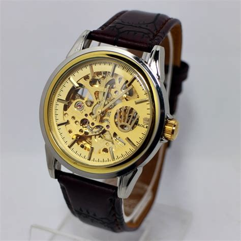 G Shock Ga 310 Black Kw rolex skeleton coklat plat gold kucikuci shop jam