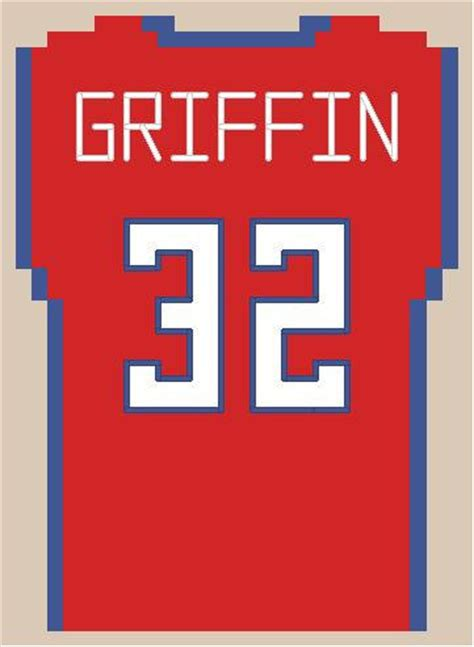 jersey stitch pattern items similar to los angeles clippers inspired mini