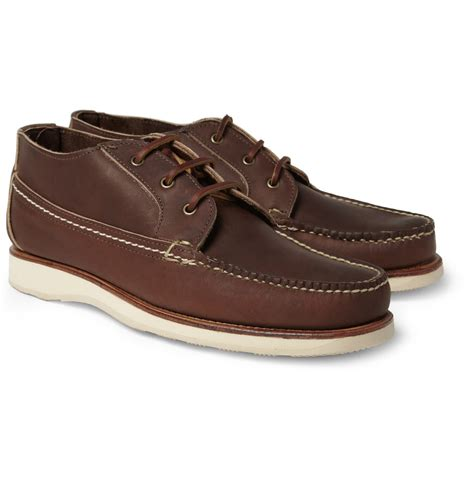 wing chukka boots wing leather chukka boots in brown for lyst