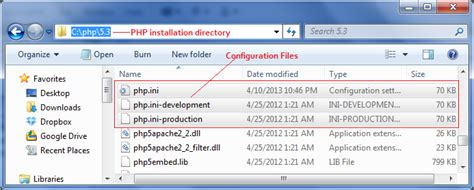 configure xp php ini configuration ini