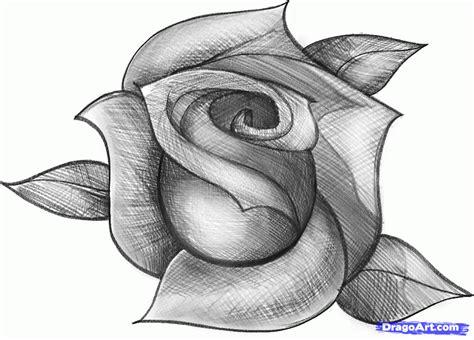 imagenes de flores sombreadas dibujos faciles paso a paso dibuja una rosa