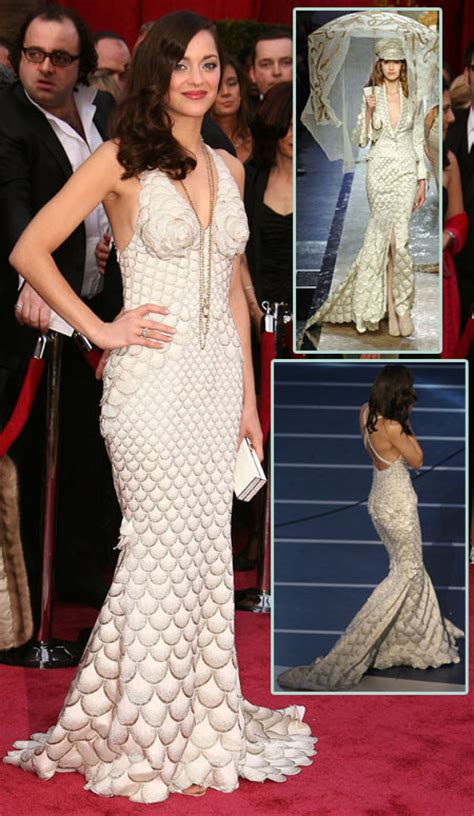 Marion Cotillards Oscar Dress From Runway To Carpet by Marion Cotillard In Jean Paul Gaultier For 2008 Oscar
