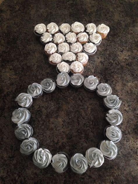 Wedding Ring Cupcakes by Engagement Ring Pull Apart Cupcake Cake Bautizo