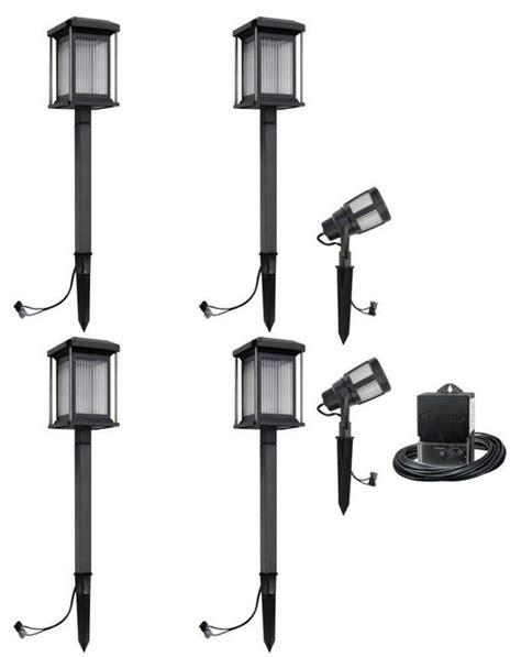 Malibu Low Voltage Landscape Lighting Malibu Path Landscape Lights Prominence Collection Low Voltage Led Kit Contemporary